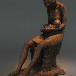 Father and Child, Bronze